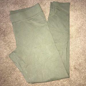 green aerie leggings